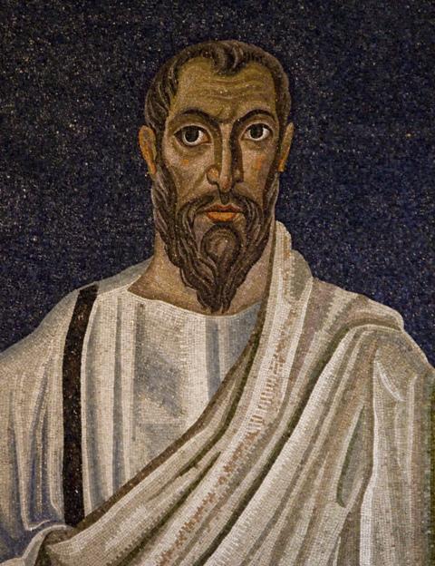 Saint-Paul-apôtre-Basilique-Saint-Paul-hors-les-Murs-mosaïque-détail-de-labside-VI-VIIème-s
