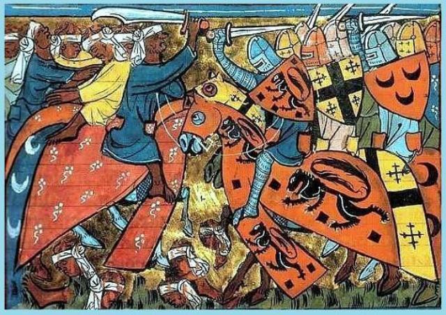 Crusaders_fighting_the_Turks