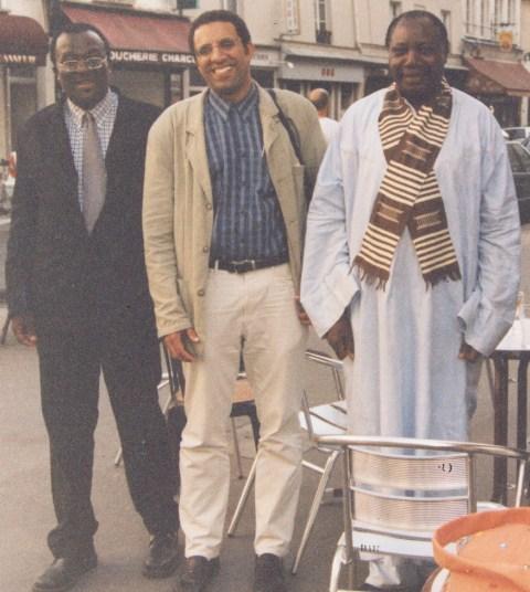 Prof.GOMEZ,Mbakh+®(fils de C.A.DIOP),et le Prof.T.OBENGA
